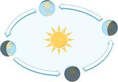 Équinoxe et solstice illustration de vecteur
