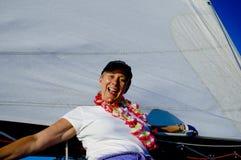 Équipage de bateau à voiles Photos stock