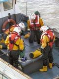Équipage de bateau de sauvetage Images libres de droits