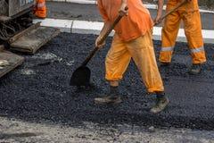 Équipage de construction de routes  Photo libre de droits