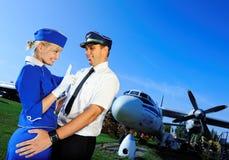 équipage de couples de cabine Images stock