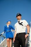 équipage de couples de cabine Photos libres de droits
