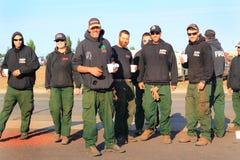 Équipage de sapeur-pompier de GFP Photos libres de droits