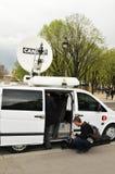 Équipage de télévision images libres de droits