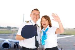 Équipage des aéronefs Images libres de droits