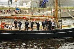 Équipage du bateau, le 28 juillet 2013 Photo stock