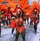 Équipage orange de carnaval d'Atlanta Photos libres de droits