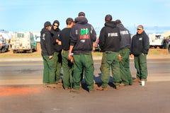 Équipages de sapeur-pompier de GFP Photo stock