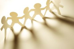 Équipe à chaînes de papier unie Image stock