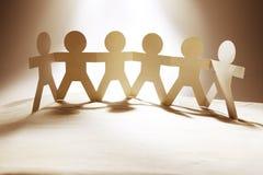 Équipe à chaînes de papier unie Image libre de droits
