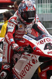 Équipe 1998 de Noriyuki Haga Ducati Xerox Photos libres de droits