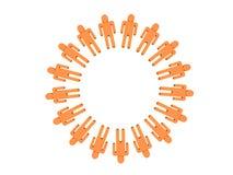Équipe 3D orange de Logotype des gens Images libres de droits