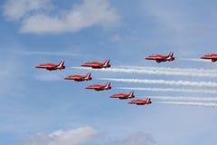 équipe acrobatique aérienne Images libres de droits