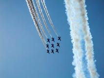 Équipe acrobatique aérienne d'avions à réaction de faucon Image libre de droits