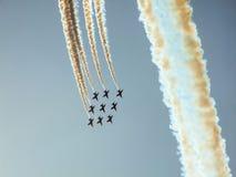 Équipe acrobatique aérienne d'avions à réaction de faucon Photo libre de droits