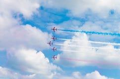 Équipe acrobatique aérienne dans l'action Image stock