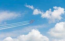 Équipe acrobatique aérienne dans l'action Photos libres de droits