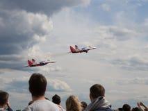 Équipe acrobatique aérienne de Swifts Image libre de droits
