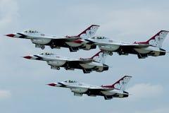 Équipe acrobatique aérienne de Thunderbirds Photos libres de droits
