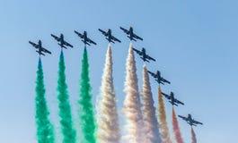 Équipe acrobatique italienne Photo stock