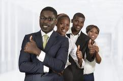 Équipe africaine d'affaires Photo stock
