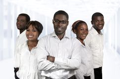 Équipe africaine d'affaires/cinq associés Photos stock