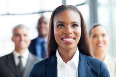 Équipe afro-américaine de femme d'affaires Photo stock