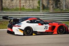 Équipe Akka-asp Mercedes SLS AMG GT3 à Monza Photos stock