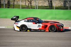Équipe Akka-asp Mercedes SLS AMG GT3 à Monza Image stock