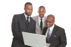 Équipe américaine sûre d'affaires d'Afrcican Image libre de droits