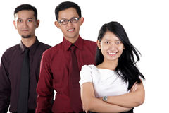 Équipe asiatique heureuse d'affaires photos libres de droits