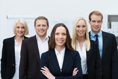 Équipe assurée réussie d'affaires Image libre de droits