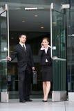 Équipe attirante d'affaires photo stock