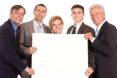 équipe avec le panneau Image stock