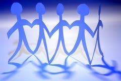 Équipe bleue photos libres de droits