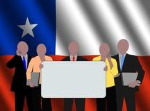Équipe chilienne d'affaires Image stock