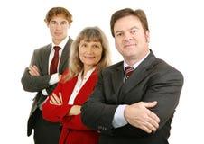 Équipe confiante d'affaires Photos libres de droits