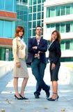 Équipe confiante de ventes Photographie stock