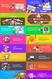 Équipe créatrice Plan d'action Medias sociaux illustration libre de droits