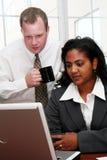 Équipe d'affaires à l'ordinateur Images libres de droits