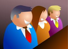 Équipe d'affaires Image libre de droits