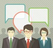 Équipe d'affaires avec des bulles de la parole Images libres de droits