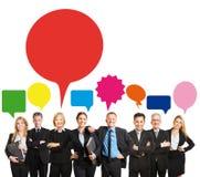 Équipe d'affaires avec des bulles de la parole Photos libres de droits