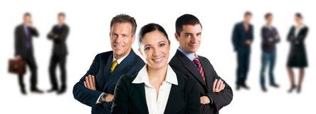 Équipe d'affaires avec des collègues Images libres de droits
