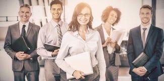 Équipe d'affaires avec le document et organisateur Image libre de droits