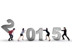 Équipe d'affaires avec le numéro 2015 Photos stock