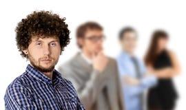 Équipe d'affaires d'isolement sur le blanc photo stock