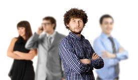 Équipe d'affaires d'isolement sur le blanc photos libres de droits