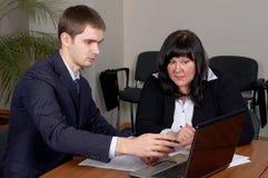 Équipe d'affaires dans le bureau Photographie stock