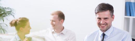 Équipe d'affaires dans le bureau moderne Image libre de droits